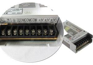 Image 3 - موديل جديد 12 فولت 20A 240 واط التبديل امدادات الطاقة سائق التبديل لشريط LED ضوء عرض 110 فولت/220 فولت شحن مجاني