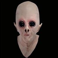 ขายร้อนที่น่ากลัวซิลิโคนใบหน้าหน้ากากคนต่างด้าวยูเอฟโอพิ