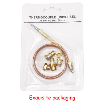 Earth Star 600mm Gas Water Heater Thermocouple Replacement with Five Replaceable Screws Universal Thermocouple Set M6x0.75 10pcs lot m8x1 head length 600mm and nuts 8mm universal thermocouple for gas water heater 600mm
