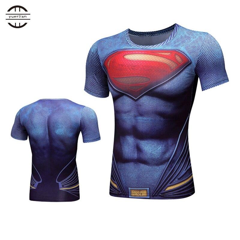 Yel New 3D Wick Spider Demix Running Shirt Men Fitness Tight Breathable 3XL Sport Suit Gym Short Mans T-Shirt Blouse Sportswear