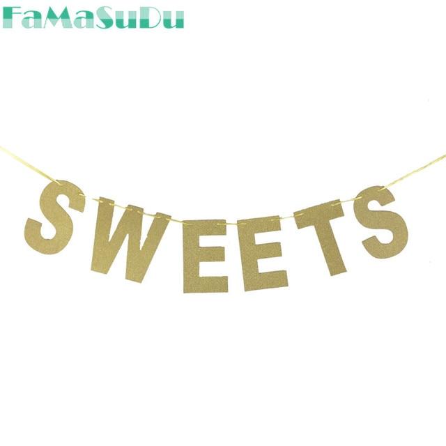 Celebration Letter | 1 Set Sweets Banner Glitter Paper Letter Banners Celebration Party