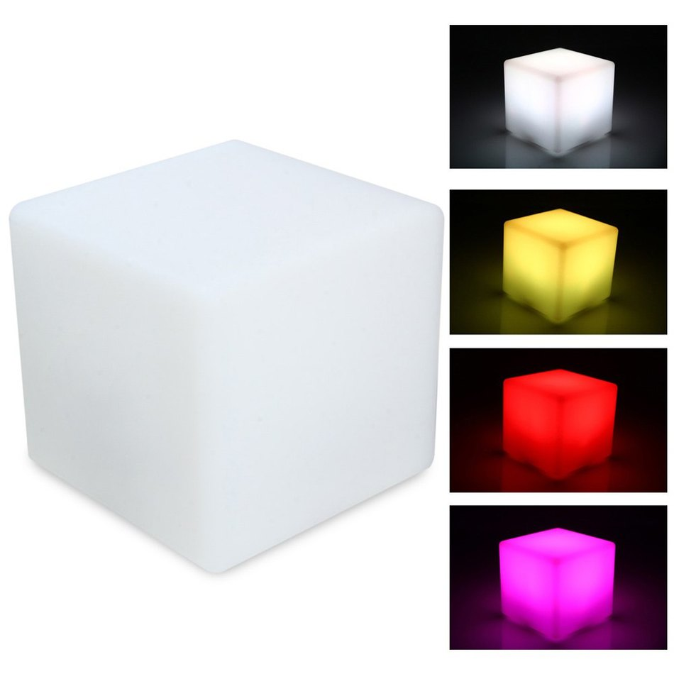 Com buy 10cm cube decorative battery operated rgb led table lamps - Portable 15 Colors Changeable Led Cube Night Light Decorative Table Lamp For Party Christmas Wedding Decoration Bars Ktv Lamp