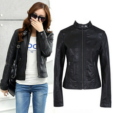 93b9672d648 2017 Fashion New Women s Leather Jacket Pimkie Cleaning Single PU Leather  Jacket Motorcycle Temale Women Slim