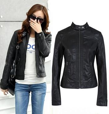 New2020 Fashion New Women's Leather Jacket  Cleaning Single PU Leather Jacket Motorcycle Temale Women Slim Coat XS-XXXL