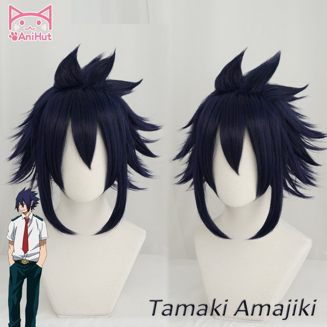 Us 15 99 20 Off Anihut Anime My Hero Academia Tamaki Amajiki Cosplay Wig Boku No Hero Academia Cosplay Big 3 Tamaki Amajiki 28cm 11in Blue Wigs In