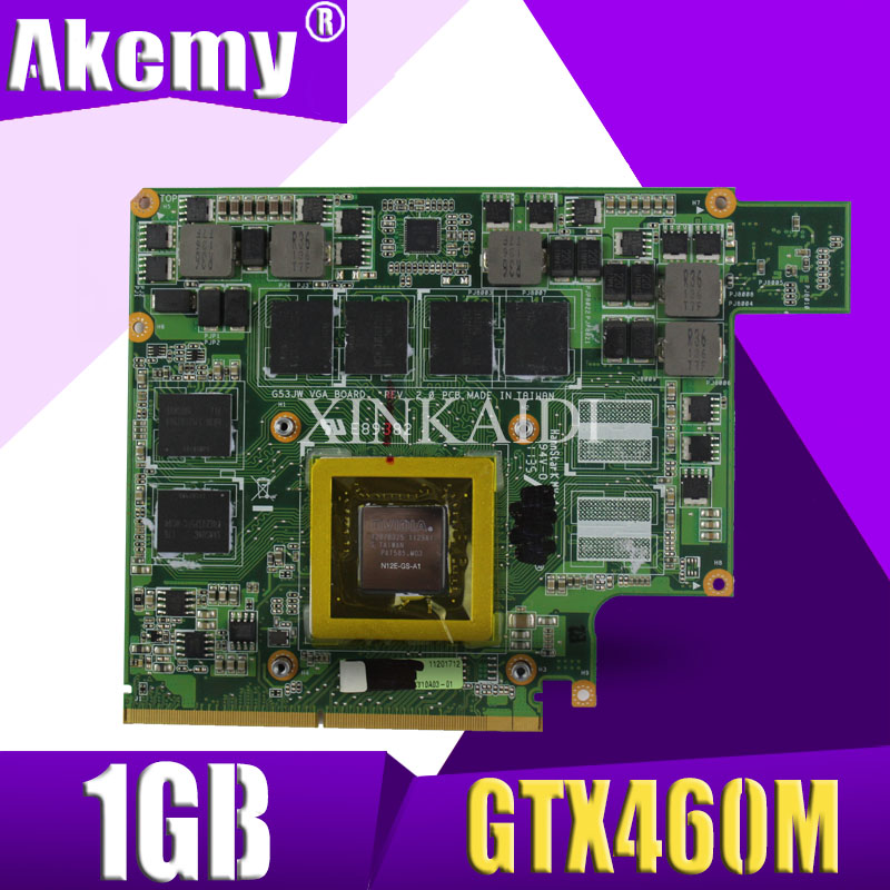 XinKaidi G53JW N11-GS-A1 GTX460M 1GB <font><b>Graphics</b></font> <font><b>Card</b></font> GPU For ASUS G53JW G73SW G53SW G53SX VX7 VX7S <font><b>GTX</b></font> <font><b>460</b></font> Laptop Motherboard <font><b>Card</b></font> image