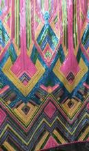 fashionable african tulle lace fabric SYJ-1516  french net 5yards/lot embroidered with sequins