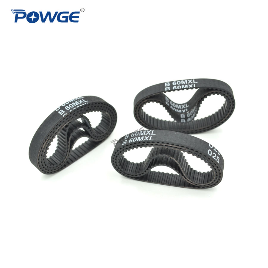 POWGE 10pcs <font><b>MXL</b></font> Timing <font><b>belt</b></font> B60 B61 B62 B63 B64 Width 6.35mm 025 6mm Teeth 60 61 62 63 64 Synchronous <font><b>belt</b></font> B60MXL B62MXL B64MXL image