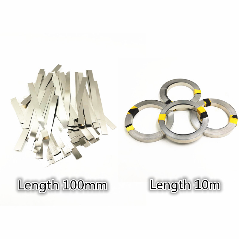 Nickel Plated Steel Strip Nickel Plate Strap Sheets For 18650 Li-ion Battery Spot Welding Machine Spot Welder Battery Welders