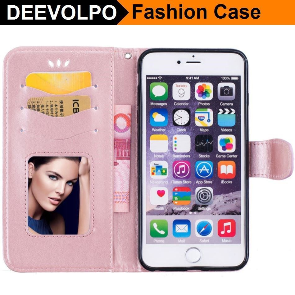 DEEVOLPO Love Style Case For Apple iphone 8 7 6 6S Plus 5 SE 8+ 7+ Wallet Photo Frame Cover For ipod touch6 Smartphone Bag DP23J