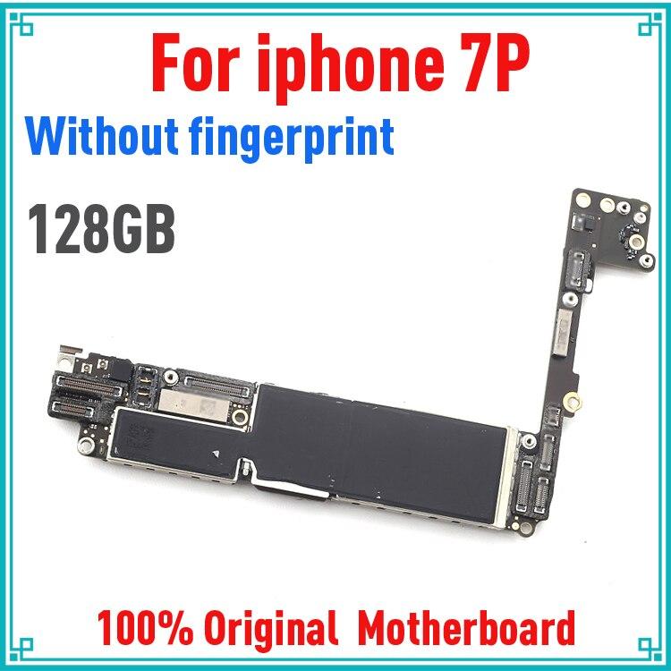 128gb для iphone 7 plus, материнская плата без Touch ID, 100% оригинальная разблокированная для iphone 7 plus, материнская плата с системой IOS