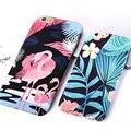 Luminoso flamencos plantas para iphone 6 caso lindo pájaro de dibujos animados flor cubierta de hojas de plátano para iphone 6 s/6 más casos de teléfono