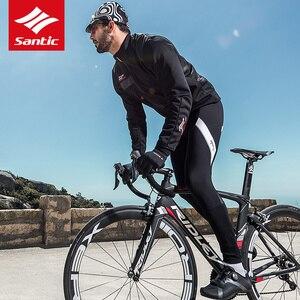Image 3 - Santic Bộ Quần Áo Đạp Xe Jersey Nam Mùa Đông Chống Gió MTB Đường Xe Đạp Xe Đạp Jersey Nhiệt Trang Đi Xe Đạp Bộ Quần Áo Maillot Ciclismo