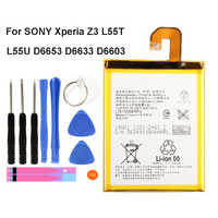 Original LIS1558ERPC Battery For SONY Xperia Z3 L55T L55U D6653 D6633 D6603 Genuine Phone Battery 3100mAh