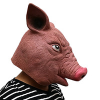 Latex Pig Mask Deluxe Animal Full Face Mask Halloween Fancy Dress Adult Costume Cosplay Gift Festival Supplies
