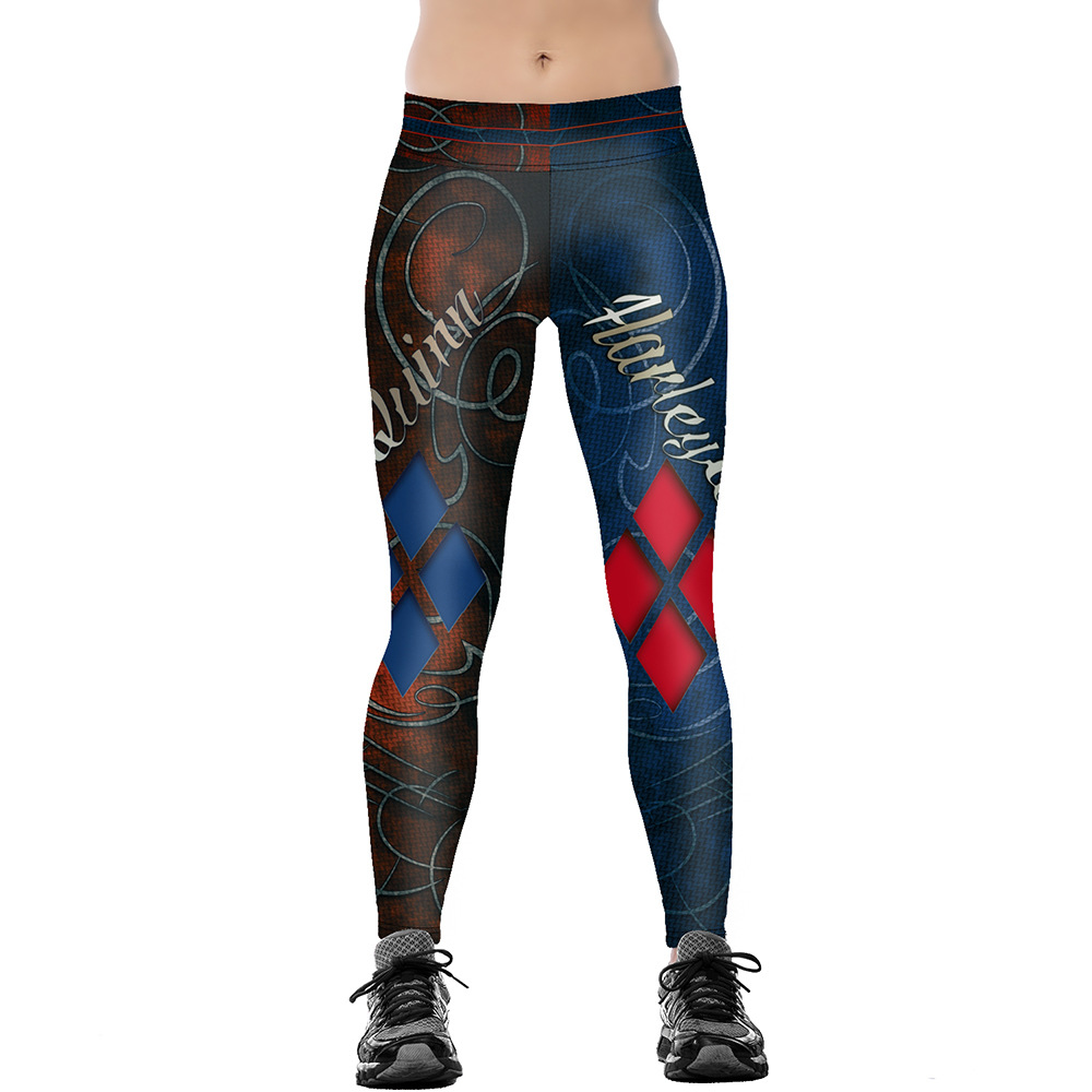 Unisex 3D Digital Print Harley Quinn Themed Fitness Leggings Elastic Hiphop Party Pants Trousers Ropa Mujer