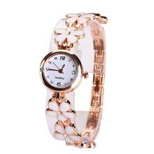 New Fashion Cute Lady Daisies Flower Bracelet Wrist Watch Women Girl Alloy Bracelet Watchband Gift Digital Wristwatches Clock PT