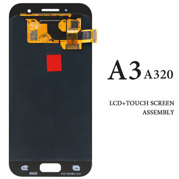 Original OEM AMOLED Black White Gold Pink For Samsung A3 2017 LCD Display Spare Parts For Samsung A3 A320 A320F Touch Screen