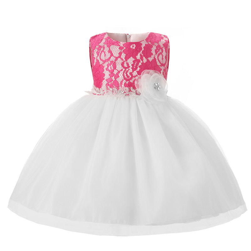 Newborn Baby Baptism Dresses Lace Christening Gown Toddler Girl ...