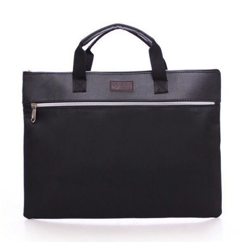 PU Leather Files Folder-For-Papers Office Documents Bag For Brief Case Organizers Carpeta
