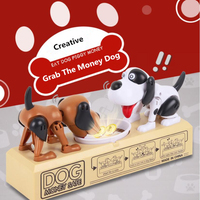 Creative Educational Toys For Children Money Dog Piggy Bank Double Dog Grab Money Coin Piggy Bank Tabletop Game Puzzle Gift