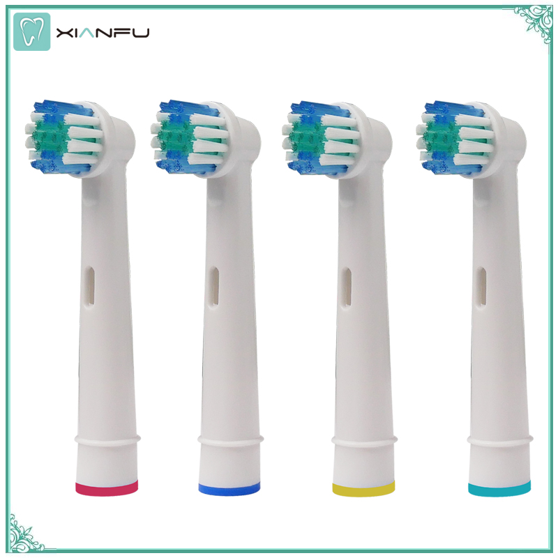 4pcs/set for Oral B Sensitive Clean Electric Toothbrush Replacement Brush Heads Vitality Precision Clean/Triumph/Pro-Health 8pcs electric toothbrush for oral b heads sb17a replacement soft bristles for oral b vitality precision clean triumph toothbrush