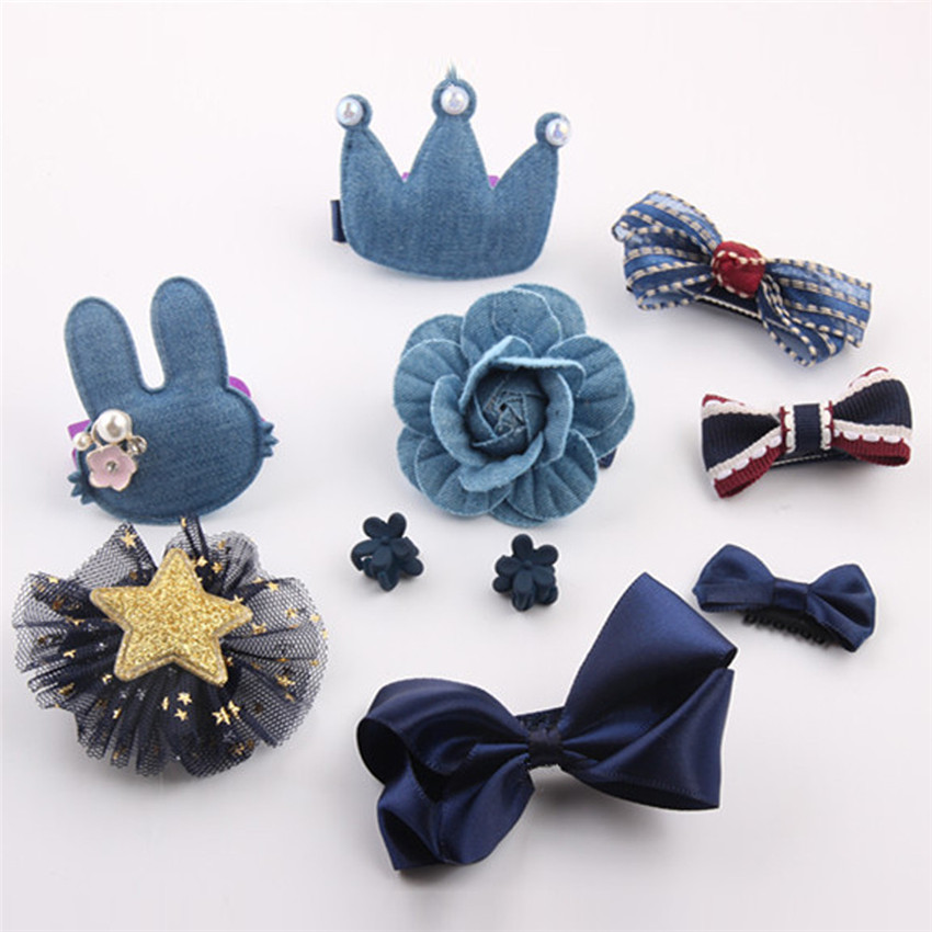 NEW 10Pcs Kids Baby Girl cute Sweet Cartoon animal motifs Hair Clip Set charming Headdre ...