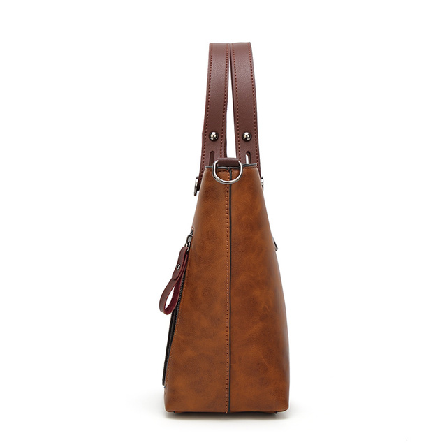 Tinkin Women Vintage PU Shoulder Bag Female Causal Totes for Daily Shopping All-Purpose Messager Bag High Quality Dames Tassen
