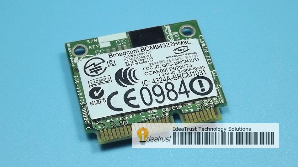 BCM94322HM8L DW1510 BCM4322 2.4&5G 300M  WiFi  Wireless Network Card  Free Drivers On Mac OS