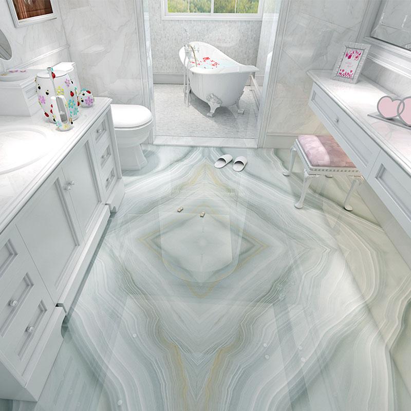 Waterproof Bathroom Walllpaper: Marble Photo Vinyl Flooring Adhesives Wallpaper Murals PVC