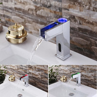 Kitchen Sink Faucet LED Automatic Sensor Faucet Waterfall Sink Faucet with Automatic Sensor Fauce Kitchen Accessories D326