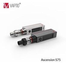 ที่ร้อนแรงที่สุดVaptio 75วัตต์ปากกาvapeสมัยด้านบนกรอกATCถังการควบคุมอุณหภูมิที่ถูกต้องบุหรี่อิเล็กทรอนิกส์