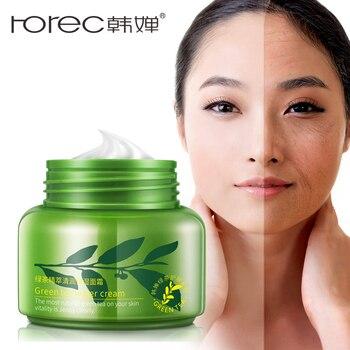 Rorec Green Tea Essence Moisturzing Face Cream Facial Care Whitening Cream Acne Treatment Oil Control Anti Aging day cream