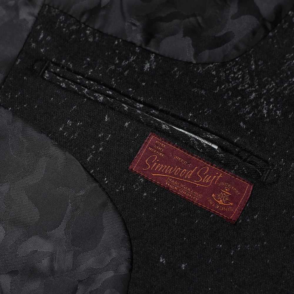 SIMWOOD 2019 invierno nueva mezcla de Blazers de lana trajes de impresión de moda para hombre chaquetas de un solo botón de alta calidad abrigos ropa XZ6109