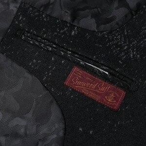 Image 5 - SIMWOOD di 2020 Inverno Nuovo Mix di Lana Giacche Uomini di Modo di Stampa Abiti Maschili Singolo Pulsante Giubbotti di Alta Qualità Cappotti Vestiti XZ6109