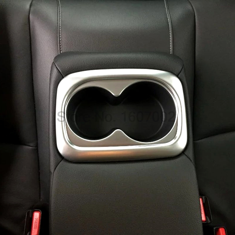 For Honda For Civic 2016 ABS Chrome Car Interior Rear Seat Cup Holders Cover Molding Trim Bezel Frame Decorative Accessories