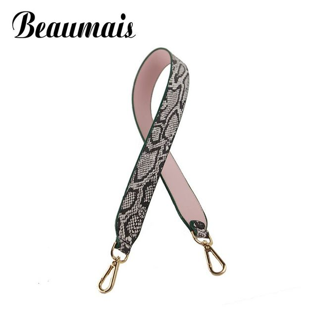 Beaumais 2017 New Weave Female handbag belt women bag strap Serpentine pu leather bags part Strapper you bolsa accessories VK210