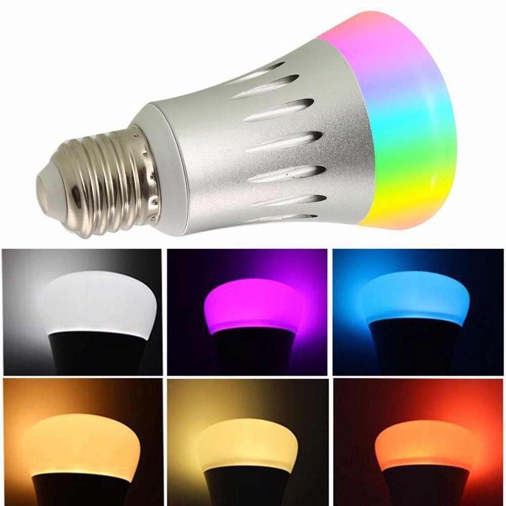 Умная лампа 7 Вт E27 Wifi умная светодиодная беспроводная лампа работает с Amazon Alexa Google Home IFFFT RGB пультом дистанционного управления