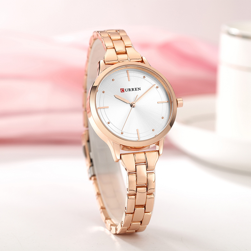 CURREN Rose Gold Watch Women Watches Stainless Steel Ladies Women's Watch Women 9019 Luxury Gold Color Fashion Relogio Feminino цена 2017