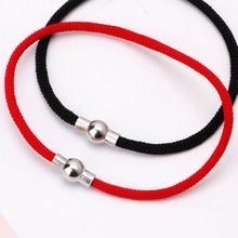 Lucky Kabbalah Friendship Bracelets Red Black Braided String With Magnetic Clasp Jewelry for Women Men