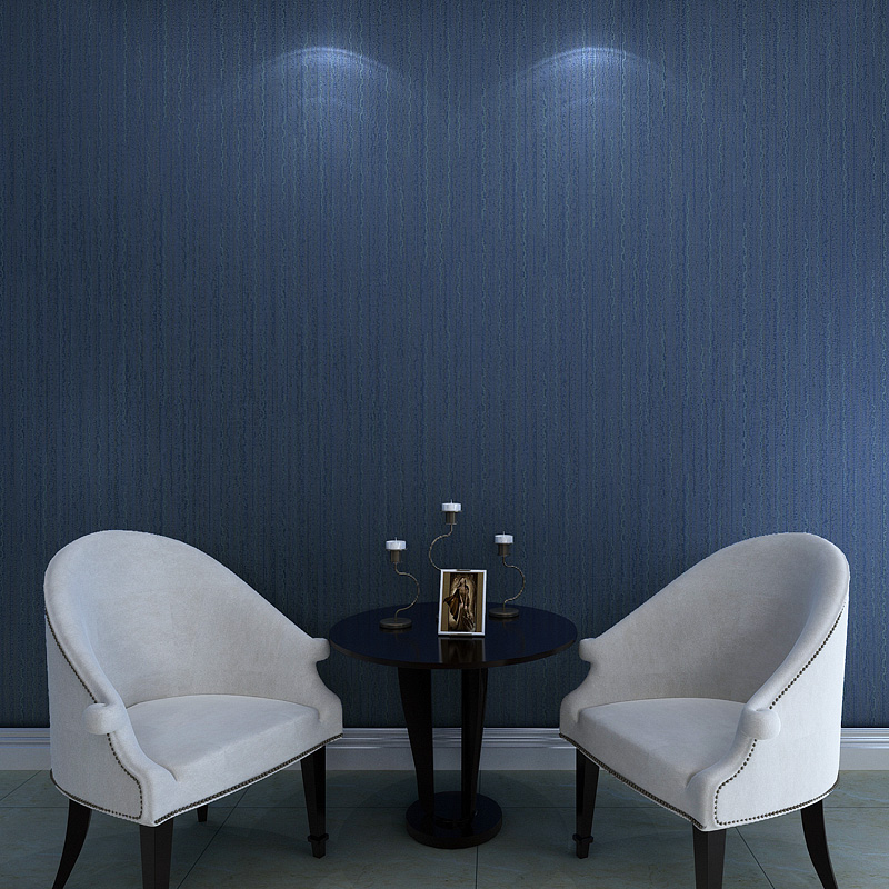 Dark Blue Wallpaper Rolls Plain Non Woven Stripe Wallpapers Wave Living Room Background Wallcoverings In From Home Improvement On