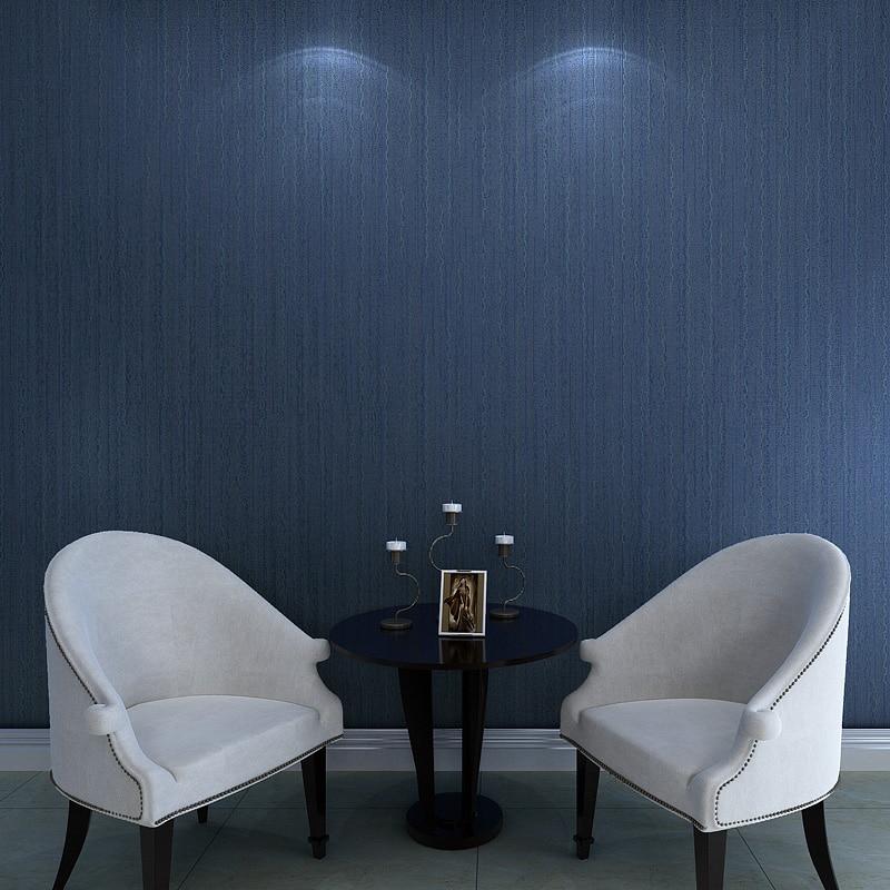Dark Blue Wallpaper rolls plain non-woven stripe wallpapers wave stripe living room background wallcoverings napapijri guji check dark blue