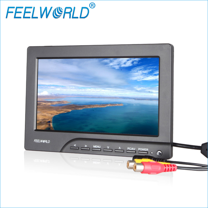 Feelworld FPV769A 7 Inch High Brigtness HD FPV Monitor 800x480 7 Dji Drone FPV Monitor LCD Monitor HDMI Monitors Ground Station
