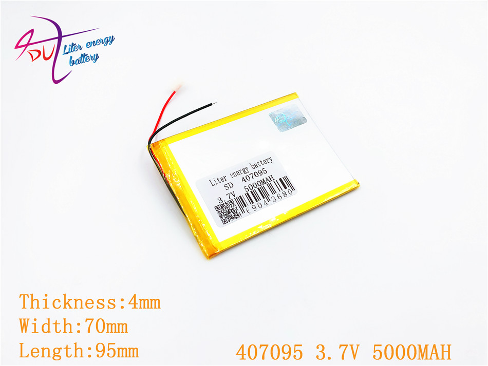3.7V 5000mah (polymer lithium ion battery) Li-ion battery for tablet pc 7 inch 407095 replace High capacity free shipping 3 7 v 5000 mah tablet battery brand tablet gm lithium polymer battery 3088128