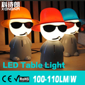 Бесплатная Доставка Cool Boy Творческий Настольная Лампа 3 Вт ПРИВЕЛО Стол Свет, AC85 ~ 265 В, теплый Белый/Холодный Белый, 2 Года Гарантии