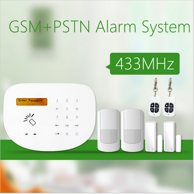 Smart house gsm pstn alarm system 433MHz with wireless strobe siren with backup battery free dhl 868mhz wireless pstn wireless alarm system gsm network smart app gsm pstn alarm gsm alarm system 868mhz