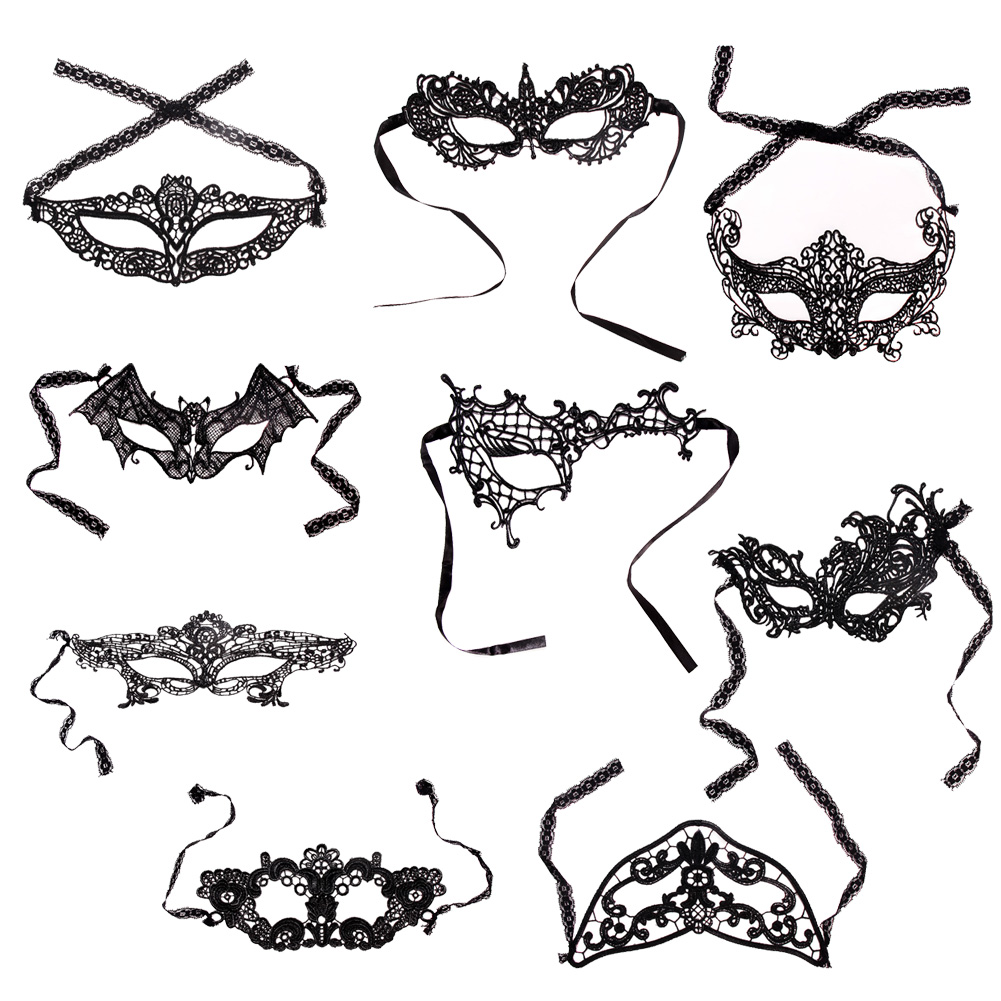 9 styles girls woman lady fashion black cutout mask lace sexy prom party halloween masquerade dance - Girl Halloween Masks