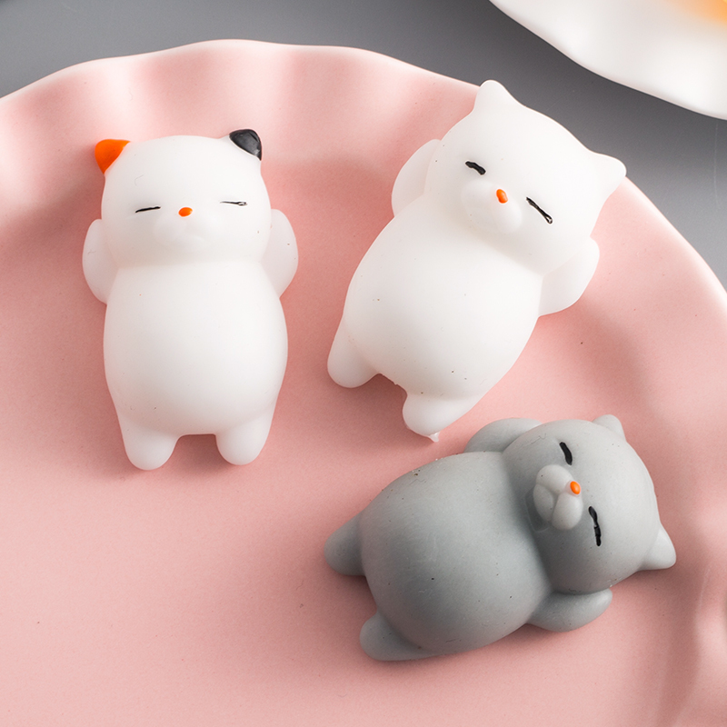 Squeeze Toy Mini Cute Animal Cat Mochi Rising Abreact Soft Sticky Anti Stress Relief Funny Gift Release Pressure Toy
