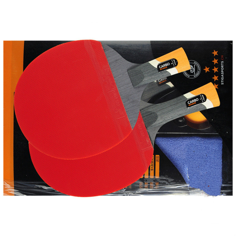 Image 3 - STIGA professional Carbon 6 STARS table tennis racket for offensive rackets sport racket Ping Pong Raquete pimples in-in Table Tennis Rackets from Sports & Entertainment