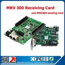 Frete grátis 1 pçs nova msd300 envio de cartão + 1 pcs mrv 300 recebendo cartão síncrono receptor & sender controlador